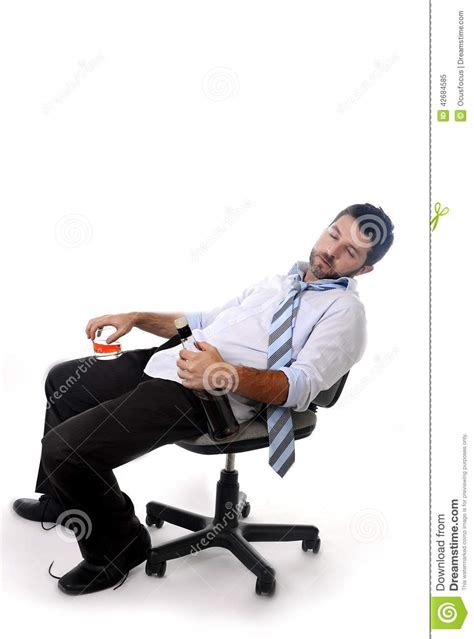 Leaning Back In Chair by Business Wasted Whiskey In Alcoholism