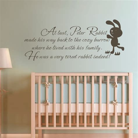 kids room wall decor children wall quote peter rabbit baby nursery bedroom kids