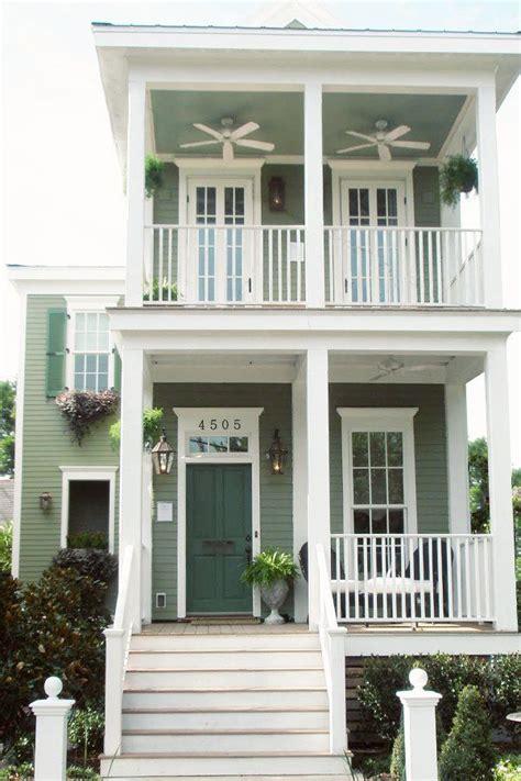 green cottage living shot gun house new orleans lettered cottage exterior