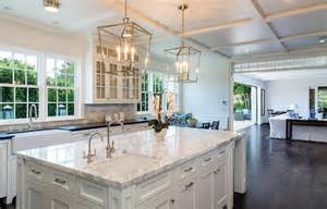 white kitchen island with top flush front shaker cabinets design ideas