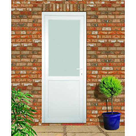 A Frame Style House wickes tamar pre hung upvc door 2085 x 920mm left hand