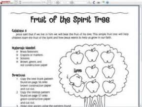 fruit of the spirit tree 1st 3rd grade lesson plan