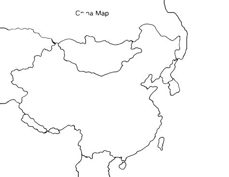 blank map of ancient china clipart best