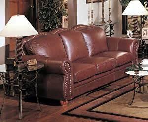 Real Italian Leather Sofa Cognac Finish 100 Real Italian Leather Sofa With Nail Trim