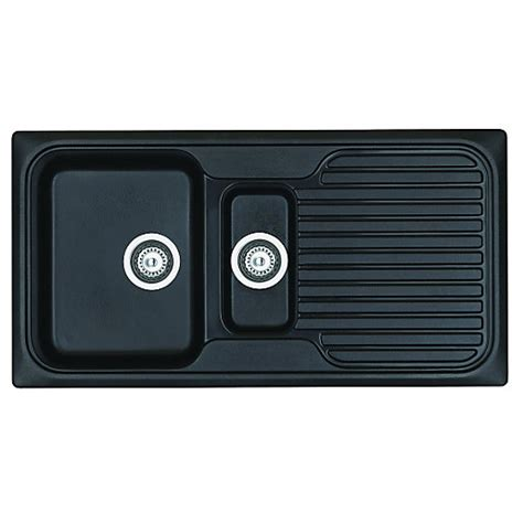 Asterite Kitchen Sink by Wickes Asterite 1 5 Bowl Reversible Kitchen Black Sink