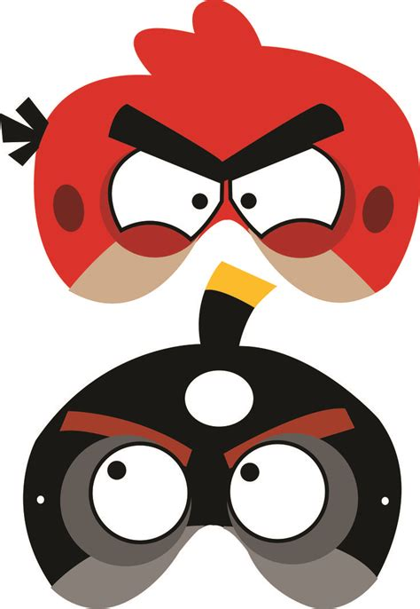 Angry Bird Mask Template angry birds free printable masks luca s b day birds masks and free printable