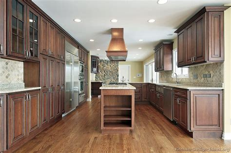walnut kitchen pictures of kitchens traditional dark wood kitchens
