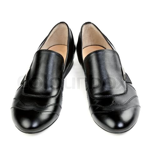 Pair Of A Pair Of Stylish Classic Black Shoes Isolated On White