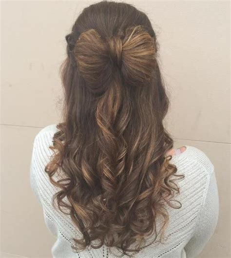 hairstyles for prom half up half down bow 50 half up half down hairstyles for everyday and party looks