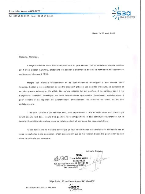 Modele De Lettre De Motivation Par Recommandation Modele Lettre De Motivation Sur Recommandation Document