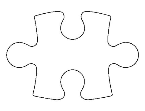 printable big puzzle pieces puzzle piece pattern use the printable outline for crafts