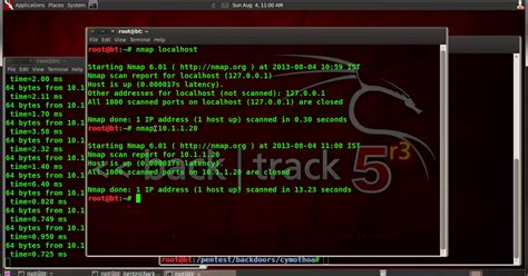nmap tutorial backtrack 5 os backdoor attack cymothoa binary hackers