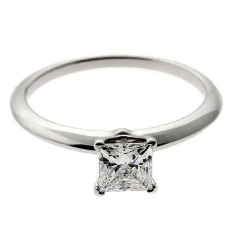 Princess Cut by And Co Princess Cut Platinum Engagement