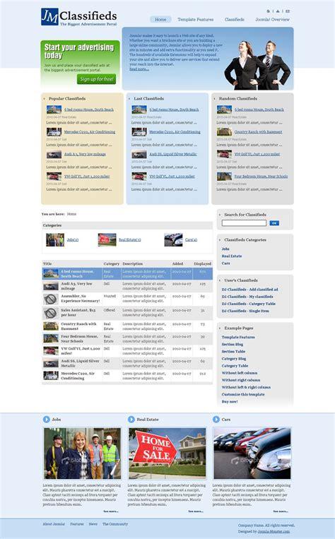joomla classifieds template jm classifieds premium joomla classifieds template