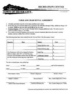 furniture rental agreement template table and chair rental agreement template fill