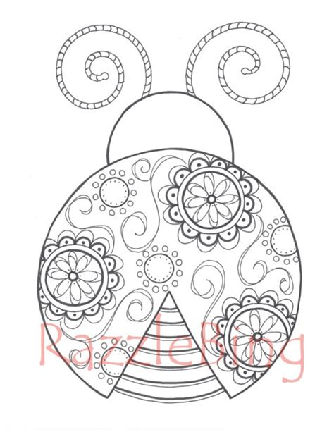 ladybug spring mandala coloring pages 4 171 funnycrafts