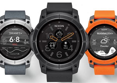 Rugged Smartwatch by Nixon Mission Rugged Smartwatch Available October 10th