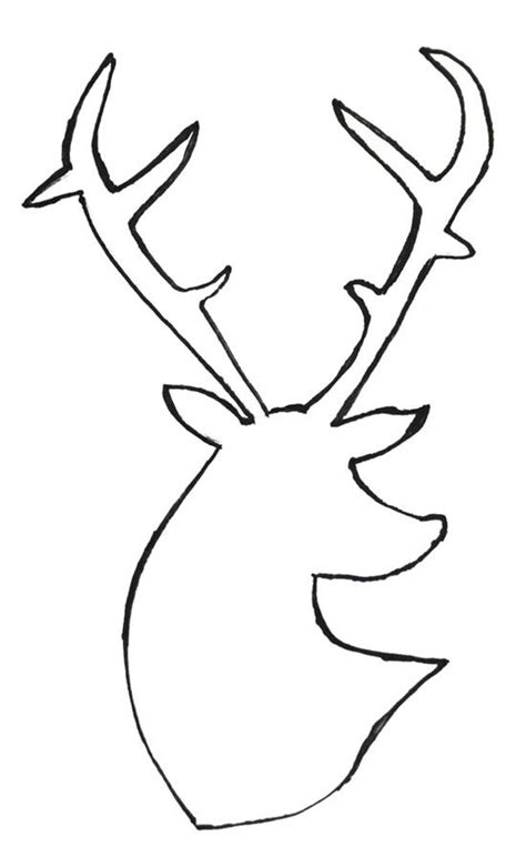 deer head silhouette clip art cliparts co