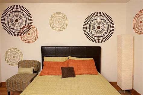 Bedroom Painting Ideas Stencils Bedroom Decorating Idea Modern Stencils By Cutting Edge