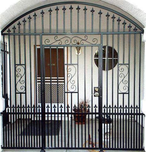 wrought iron security entryway front door security