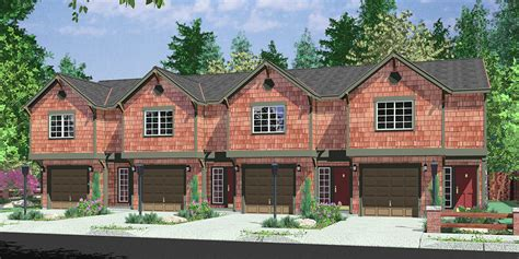 Multi Family House Plans Apartment by 4 Plex House Plans Multiplexes Quadplex Plans