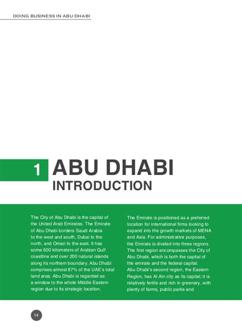 Mba In Abu Dhabi Part Time by Doing Business In Abu Dhabi Part 3