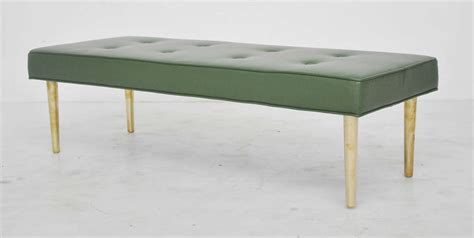 low bench low dunbar leather bench with brass legs image 6