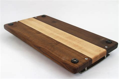 Handcrafted Board - handcrafted wood cutting board edge grain walnut and no