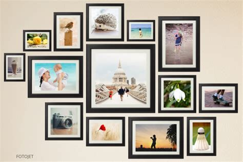 Creative Wall Collage Ideas Give You A Hand On Making Wall Photo Collages Wall Collage Template