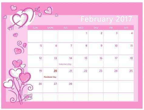 printable calendar 2017 pink calendar february 2017 printable calendar template