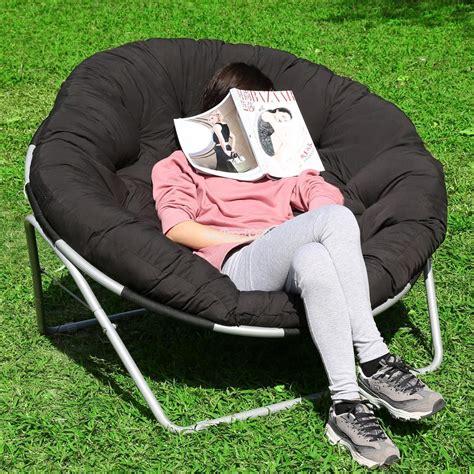 outdoor papasan chair uk folding cing chair outdoor moon fishing garden leisure