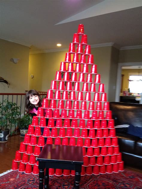 biggest cup tower  emmas board pinterest red solo cup  party planning