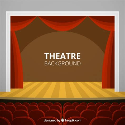 free stage background design vector theatre stage background vector premium download