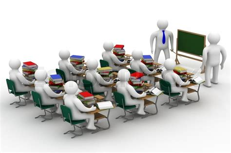 Home Based Interior Design Jobs lesson in a school class isolated 3d image stock photo