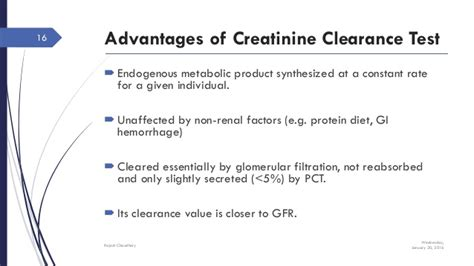 creatinine test renal function test