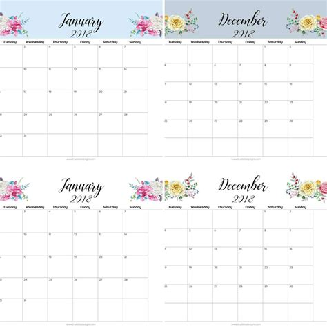 april 2018 monthly calendar editable printable free printable