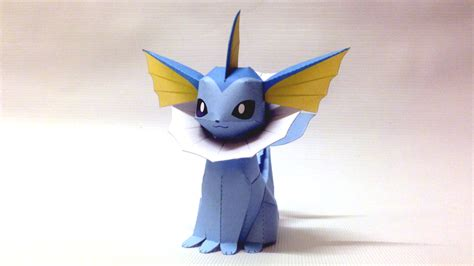 Origami Eevee - yoshiny s design how to make the vaporeon papercraft from