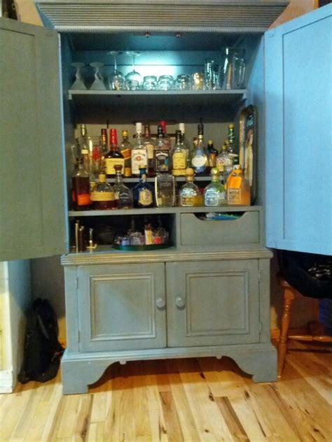 armoire à whisky armoire made into a liquor cabinet for the home