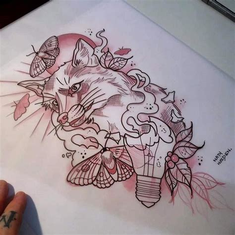 fox tattoo sketch neotraditional on instagram