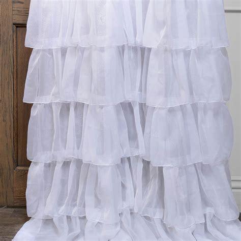 amelia curtains amelia layered ruffle sheer curtain half price drapes