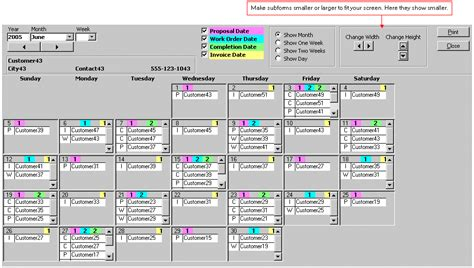 ms access calendar template microsoft access calendar tool schedule by month week day