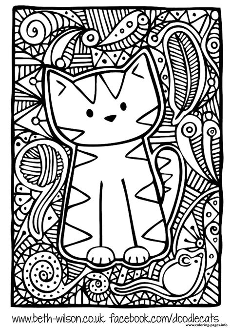 cute coloring pages for adults kitten adult difficult cute cat coloring pages printable
