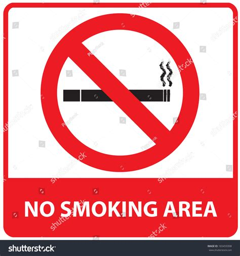 no smoking sign mac startup no smoking area sign stock illustration 165459398