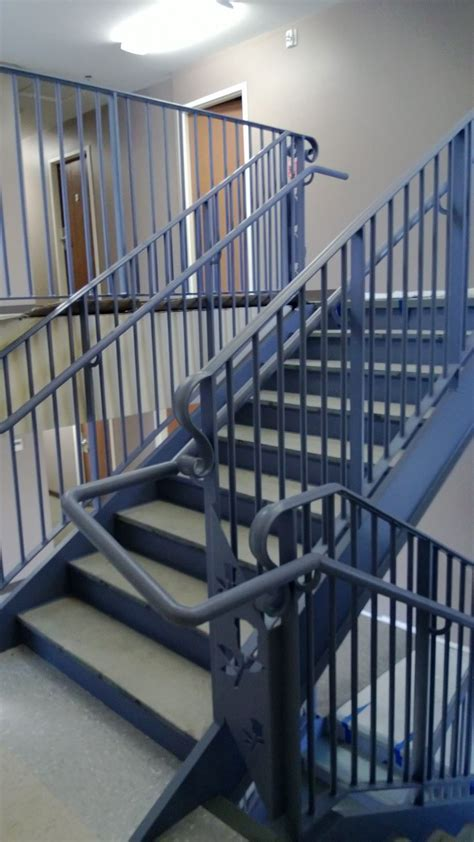 Stair Banisters Railings by Steel Metal Stair Railing Ladder And Platform