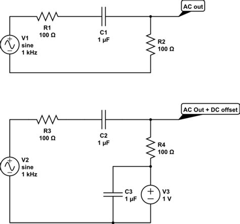 capacitor as high pass filter rf pass dc through passive highpass filter electrical engineering stack exchange