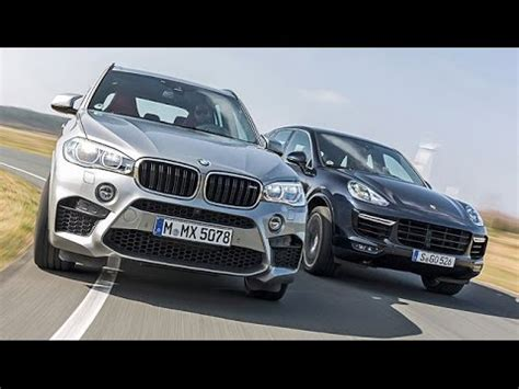 duell bmw x5 m vs porsche cayenne turbo 2015