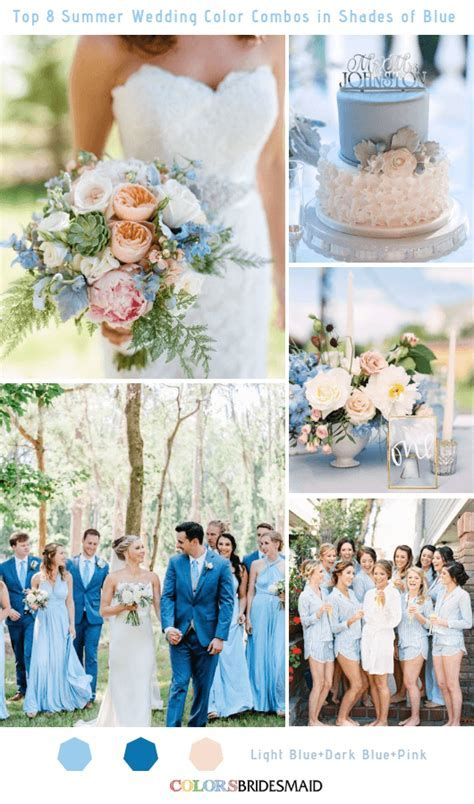 Top 8 Summer Wedding Color Combos in Shades of Blue for