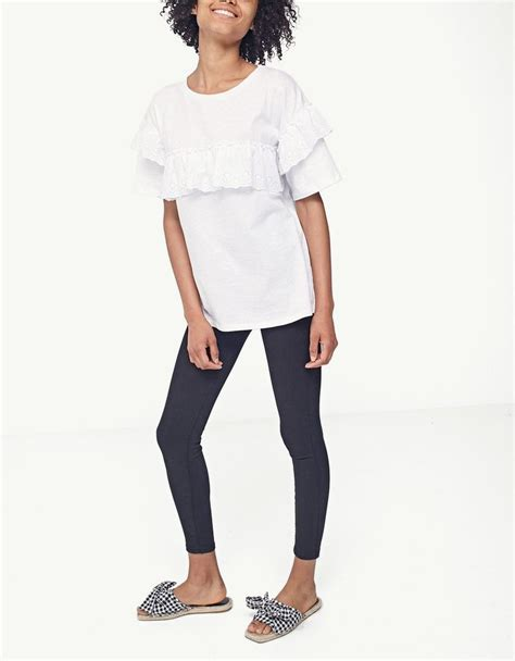 Stradivarius Ruffled Top With Swiss Embroidery 250 best stradivarius images on ukraine embroidery and germany