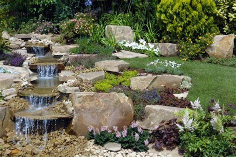 beautiful waterfalls  natural backyard  front