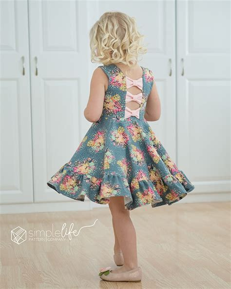 printable toddler skirt pattern aria s bow back top dress pdf downloadable sewing
